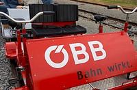 handcar / ÖBB - Bahn wirkt / Austrian Federal Railways / railway crisis / economy measures