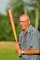 Grandpa at bat