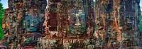 Stone heads at Bayon Temple Angkor Thom, Siem Reap, Cambodia