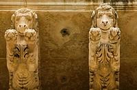 Italy, island, Sicily, island Sicily, Noto Palazzo Villadorata figures detail, South-Italy, destination, sight, Palazzo Nicolaci, indoors, baroque, ar...