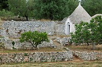 Italy, Apulien, Cisternino, Trullo, walls, southeast-Italy, destination, sight, culture, architecture, construction-manner, typically, regional-typica...
