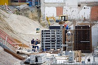 Building site, workers,