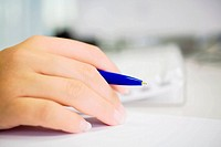 Desk, woman, detail, hand, ball-letters, writing, fuzziness, series, people, women-hand, pen, handwriting, by hand, writes down, lists, communication,...