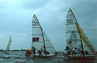 Germany, Kieler bay, sailboats, regatta, change-maneuvers,