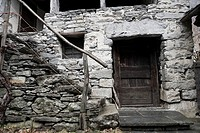 Entrance, Mondada, Val Bavona, Maggia valley, Tessin, Switzerland,