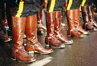 Royal Canadian Mounted Police boots, Vancouver. British Columbia, Canada