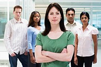 Young Businesswoman with Co-Workers