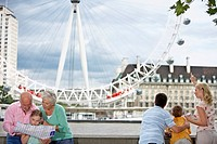 Family Standing in Front of London Eye
