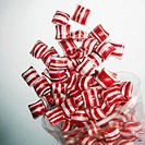 Flying peppermint candies