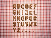 Chocolate alphabet cookies