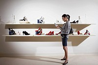 Woman looking at shoes