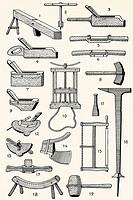 Old cooperage tools