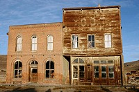 Store fronts in the Bodie Ghost Town, California, USA