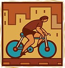 Illustration of a cyclist