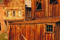 Houses in Bodie State Historical Park. California, USA