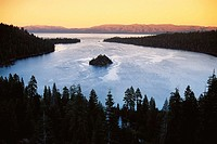 Lake Tahoe, Emerald Bay State Park. Sierra Nevada Mountains, California, USA