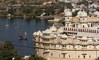 View of the city palace in Udaipur. India