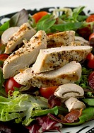 Salad with chicken breast