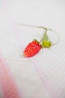 Wild strawberry on tea towel