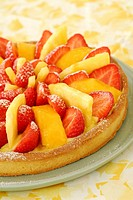 Summer fruit flan