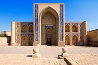 Ulughbek, medressa, Bukhara, Uzbekistan,