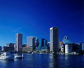 INNER HARBOR SKYLINE. BALTIMORE MARYLAND. USA