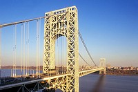 george washington bridge hudson river. manhattan new york. USA