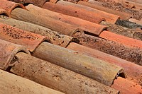 Roofing, tiles, Provence, France, pantiles,