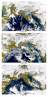 This is how the satellite saw the air over the Plain of Lombardy in northern Italy on January 3, 5, and 19. Record_breaking levels of air pollution we...