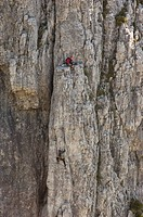 rock climbers, grigna meridionale, italy