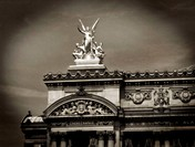 Opera Garnier (aka Palais Garnier, Opéra de Paris, Grand Opera House, Paris Opera). Landmark designed by Charles Garnier in Neo-Baroque style and open...