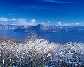 Toya lake Winter Toya Hokkaido Japan