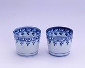 Indigo, Earthenware, Koimari ware, Soba, Inoguchi, Saga, Japan