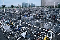 Parking lot for bicycles Bicycle Chiba new town Inzai Chiba Japan Vehicle, Transportation