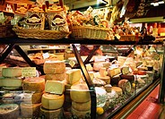 Central market, cheese, food, shop, Firenze, Italy, Europe