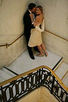 Mature couple on a staircase