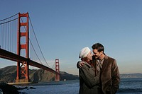 Couple near the Golden Gate Bridge