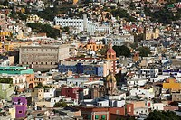 MEXICO-Guanajuato State-Guanajuato: Town View from the Municipal Cemetery