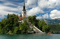 Church of the Assumption, Bled Island, Lake Bled, Slovenia, Balkans, Europe