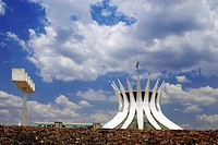 Cathedral designed by architect Oscar Niemeyer. Brasilia. Brazil