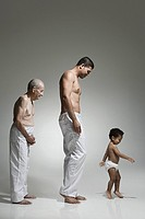 Three generations of males