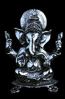Close-up of a statue of God Ganesha