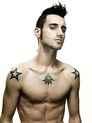 Young man with tattoos