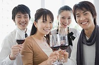 Friends having wine (thumbnail)