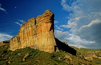 Rock escarpment, Golden Gate National Park, Free State, South Africa
