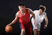 two male basketball players