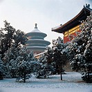 Snow scene of Temple of Heaven,Beijing