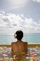 Maldives. South Male Atoll. Asian Woman.