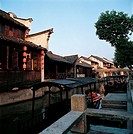 traditional Chinese folk houses in Wu Town,Zhejiang Province