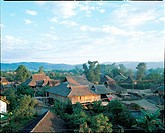 the folk houses of Dai nationality in Yunnan Province,China
